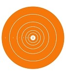 Orange Single Spot Bullseye - 10x14