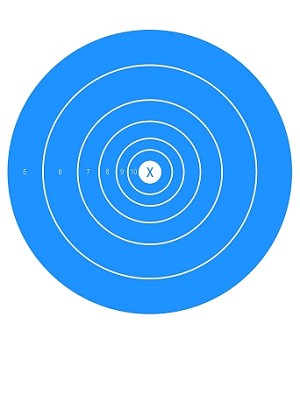 Blue Circle Single Spot Bullseye - 10x14