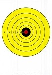 Yellow, Red, Black Single Spot Bullseye - 10x14