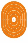Orange Oval Bullseye - 12.5x19