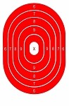 Red Oval Bullseye - 12.5x19