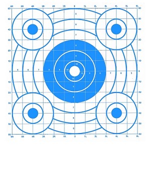 Blue Circular Sighting-In Targets - 14x16
