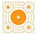 Orange Circular Sighting-In Targets - 14x16
