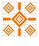Orange Diamond Sighting-In Targets - 14x16