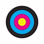 Multi-Color Single Spot Bullseye - 14x16