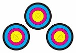 Multi-Color Three Spot Bullseye - 14x20
