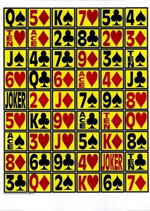 Single Sided Deck of Cards - 14x20