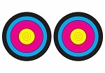 Multi-Color Two Spot Bullseye - 14x20