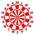 Red Regulation Size Dart Board - 17.5x19.5