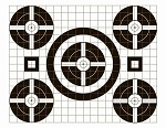 Black Five Spot Grid Bullseye - 17.5x22.5