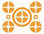 Orange Five Spot Grid Bullseye - 17.5x22.5