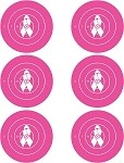 Pink Breast Cancer Six Spot Bullseye - 19x25