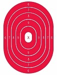 Red Oval Bullseye - 19x25
