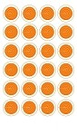 Orange Twenty-Four Spot Bullseye - 8x14