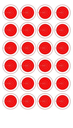 Red Twenty-Four Spot Bullseye - 8x14
