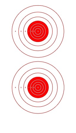 Red Two Spot Bullseye - 8x14