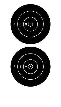 Black Two Spot Solid Bullseye - 8x14