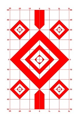 Red Diamond Sighting-In Targets - 8x14