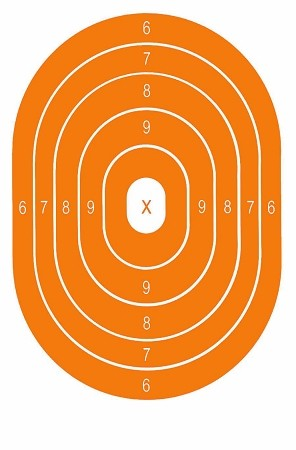 Orange Oval Bullseye - 8x14
