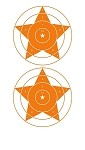 Orange Star Bullseye - 8x14
