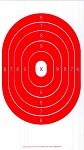 Red Oval Bullseye - 8x14