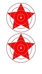 Red Star Bullseye - 8x14
