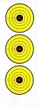 Yellow, Red, Black Three Spot Bullseye - 9.5x25