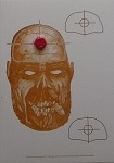 Bleeding Zombie Head Targets - 10x14
