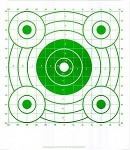 Green Circular Sighting-In Targets - 14x16