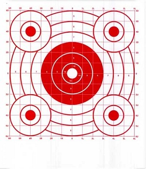 Red Circular Sighting-In Targets - 14x16