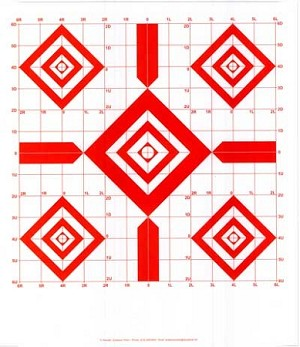 Red Diamond Sighting-In Targets - 14x16