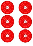 Red Six Spot Bullseye - 19x25