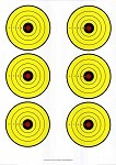 Yellow, Red, Black Six Spot Bullseye - 19x25